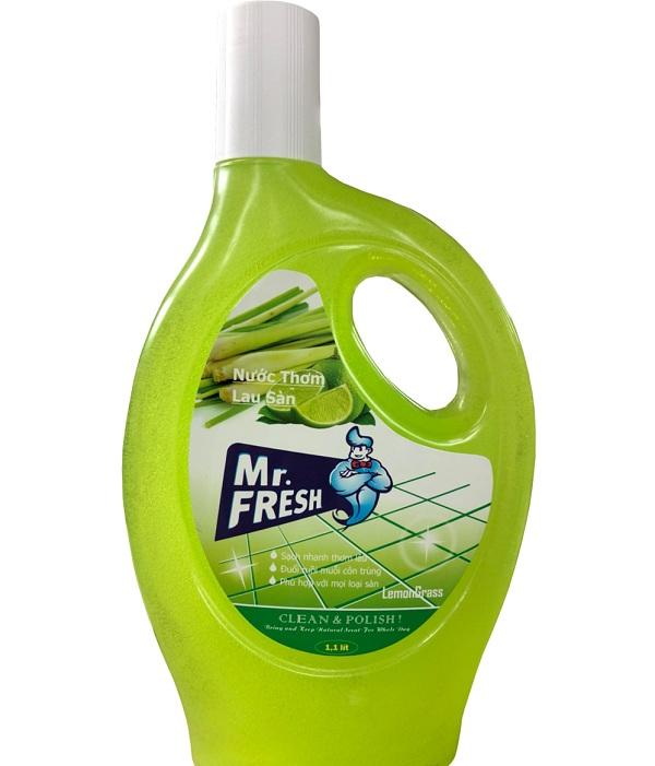 Nước lau sàn Mr.Fresh hương chanh sả thiên nhiên 1,1 lít