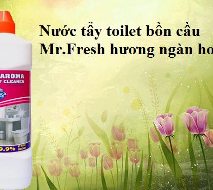 Tẩy bồn cầu toilet Mr.Fresh 1L hương ngàn hoa siêu sạch
