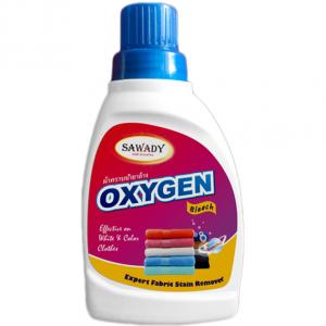Nước tẩy quần áo Oxygen Sawady 450ml, nước tẩy quần áo trắng, nước tẩy quần áo màu siêu sạch, không mùi