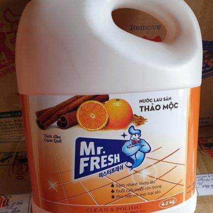Can nước lau sàn Mr.Fresh hương cam quế 4,2L sẵn hàng SLL