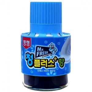 Cốc tẩy toilet Mr.Fresh 180g làm sạch bồn cầu với hương thơm nhẹ nhàng. Hướng dẫn sử dụng, công dụng và lưu ý khi dùng chai tẩy diệt bồn cầu Mr.Fresh 180g màu xanh