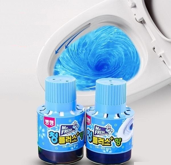 Cốc tẩy bồn cầu toilet Mr.Fresh 180g thơm màu xanh