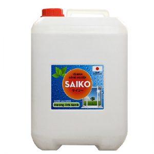 Nước lau rửa kính Saiko 20L hương trà xanh Nhật Bản. Hướng dẫn sử dụng, công dụng, lưu ý khi sử dụng sản phẩm vệ sinh công nghiệp nước lau kính Saiko 20L trà xanh