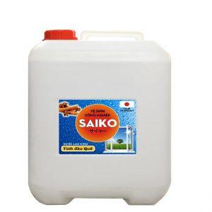 Nước lau rửa kính Saiko 20L tinh dầu quế siêu sạch. Nước rửa kính Saiko tinh dầu quế can 20 lít chiết suất thiên nhiên, an toàn với công nghệ Nhật Bản