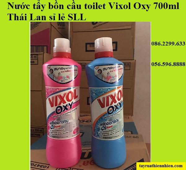 Nước tẩy bồn cầu toilet Vixol Oxy 700ml Thái Lan siêu sạch: giá bán sỉ lẻ, hướng dẫn sử dụng, công dụng nước tẩy bồn cầu Vixol Oxy 700ml