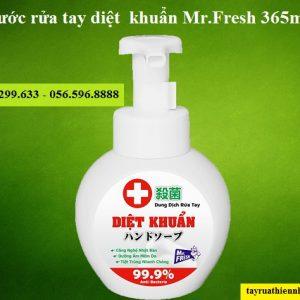 Nước rửa tay diệt khuẩn Mr.Fresh 365ml diệt tới 99,9% vi khuẩn. Giá bán sỉ lẻ, công dụng & hướng dẫn sử dụng