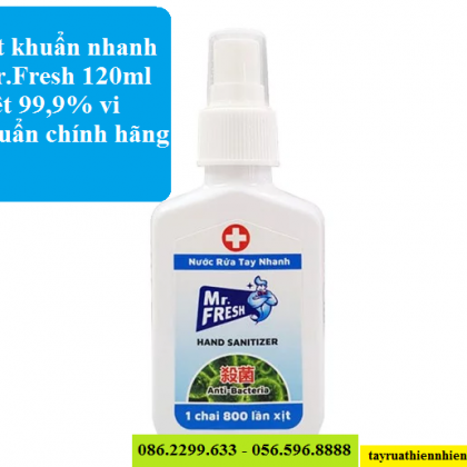 Xịt khử trùng Mr.Fresh 120ml diệt khuẩn 99,9% tiện lợi