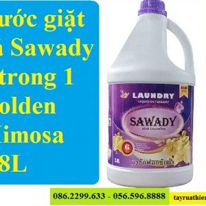 Nước giặt sả Sawady 6 trong 1 Golden Mimosa 3,8L: giá bán sỉ lẻ, công dụng, hướng dẫn sử dụng A-Z