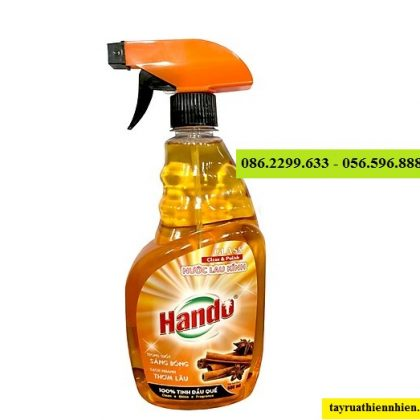 Nước lau kính Hando 680ml hương quế siêu sạch siêu thơm