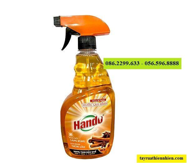 Nước lau rửa kính Hando 680ml hương quế: giá bán sỉ lẻ, công dụng, hướng dẫn sử dụng, sku