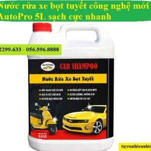 Nước rửa xe bọt tuyết AutoPro 5 lít siêu sạch cho ô tô, xe máy: giá bán, công dụng, hướng dẫn sử dụng