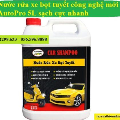 Nước rửa xe bọt tuyết AutoPro 5L cho ô tô, xe máy cực sạch