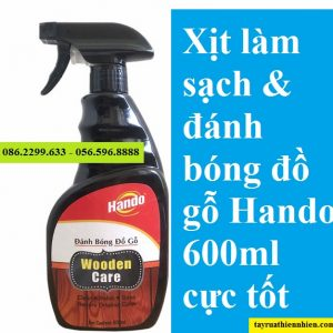 Xịt làm sạch và đánh bóng đồ gỗ Hando 600ml siêu sạch: giá bán sỉ lẻ, công dụng, hướng dẫn sử dụng