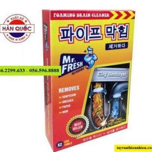 Bột thông tắc cống Hàn Quốc Mr.Fresh 2x100g: giá bán sỉ lẻ, công dụng & hướng dẫn sử dụng