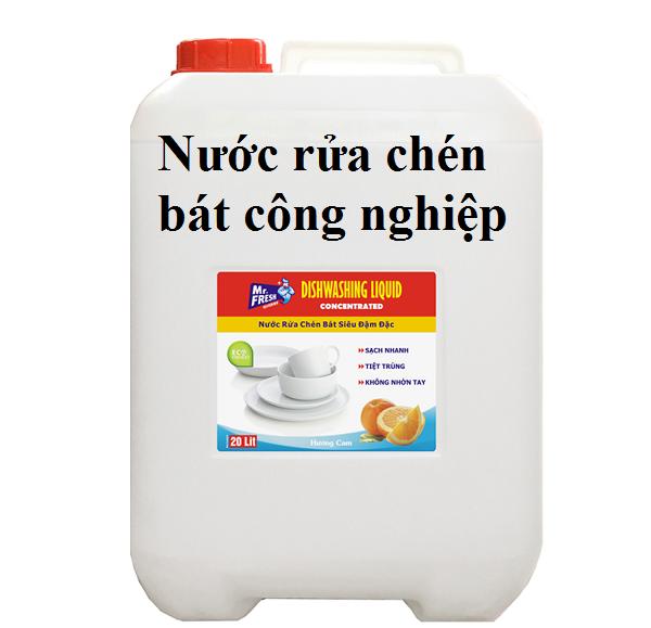Nước rửa chén bát công nghiệp Mr.Fresh 20L hương cam: giá bán sỉ lẻ, công dụng, hướng dẫn sử dụng